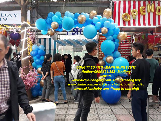 Trang trí cổng bóng nghệ thuật tại Hà Nội