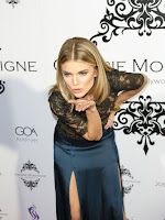 annalynne mccord braless red carpet dress