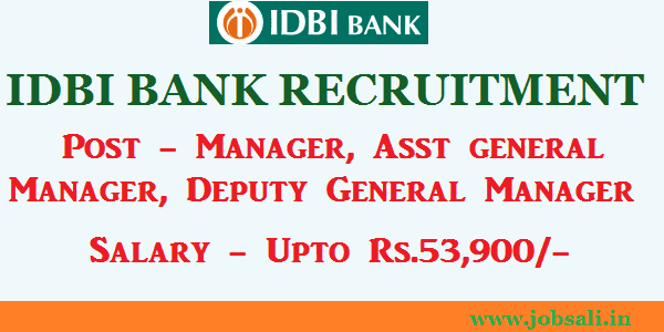 IDBI Bank Careers, Career In Banking, IDBI Specialists officer recruitment