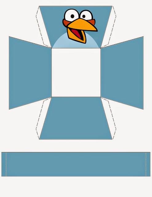 Angry Birds: Cestas de Papel para Imprimir Gratis.