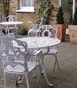 Elegant Wrought Iron Garden Furniture Antique