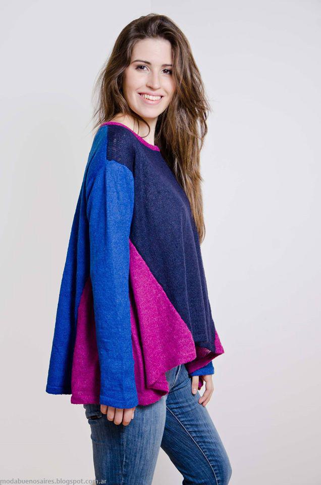 Moda sweaters tejidos invierno 2016 Lares.