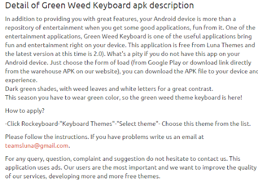 Green Weed Keyboard 2.0 apk | APKs 4 Fun-Download Android Apps, Games, Apks and Much More