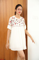 Lavanya Tripathi in Summer Style Spicy Short White Dress at her Interview  Exclusive 266.JPG