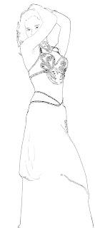 dessin danseuse orientale