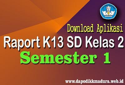 Download Aplikasi Raport K13 Kelas 2 SD Semester 1 Revisi Terbaru Tahun 2018