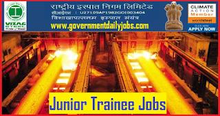 Vizag Steel Recruitment 2018 RINL invites application for 664 Junior Trainee Job