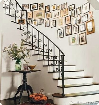 50 Creative Staircase Wall decorating ideas, art frames ... on Creative Staircase Wall Decorating Ideas  id=53419