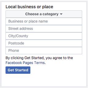 register business page on Facebok