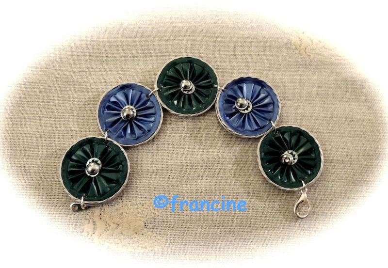 "Populaire FRANCINE BRICOLE : Bracelets ""Marguerites""-capsules Nespresso ZC47"