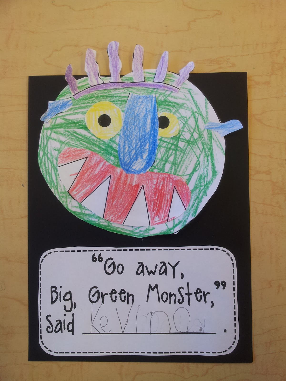 Colors And Kindergarten Go Away Big Green Monster
