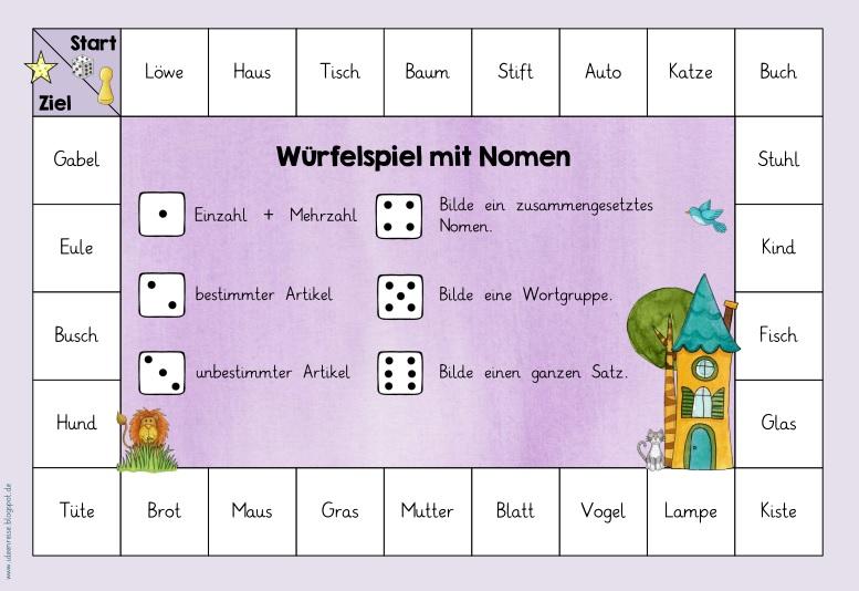 Spiel Wortarten