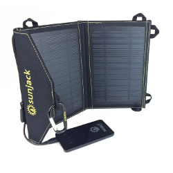 SunJack 7W Solar Charger With 4000mAh Fast-Charge Battery