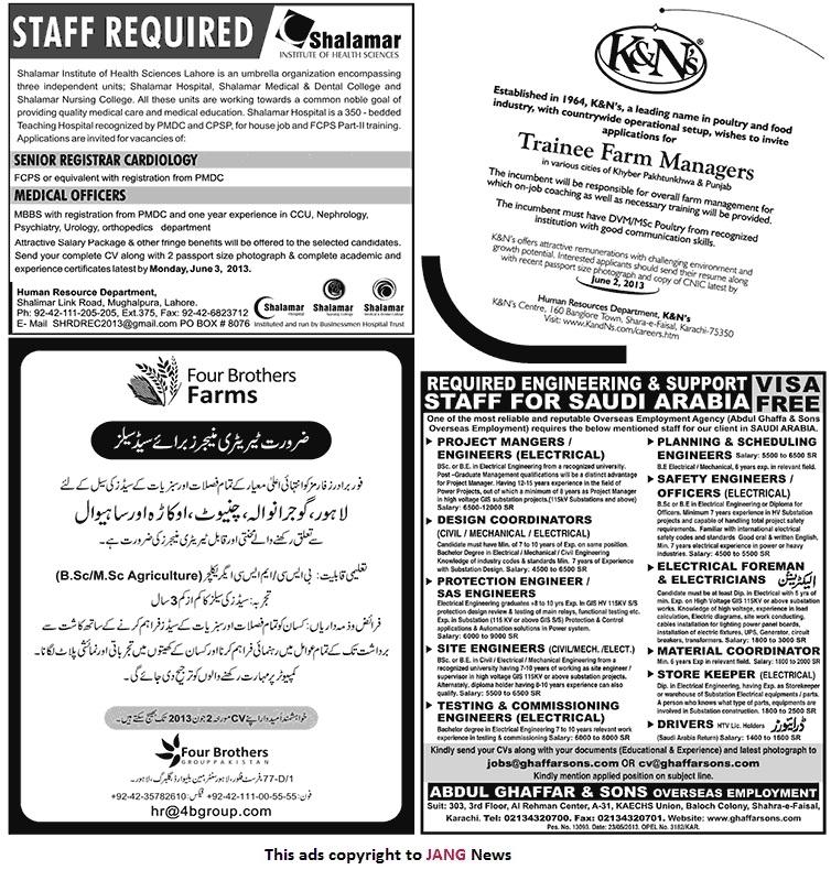 Daily Jang Classified Sunday Karachi