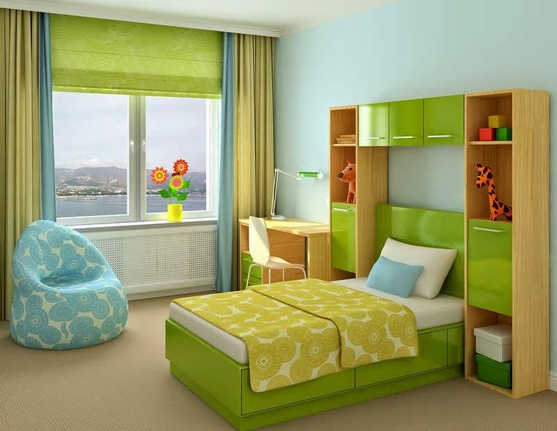 Habitaciones para adolescentes color verde ideas para for Chica azul dormitorio deco