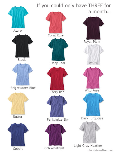Which colors will you choose for your tee shirts?