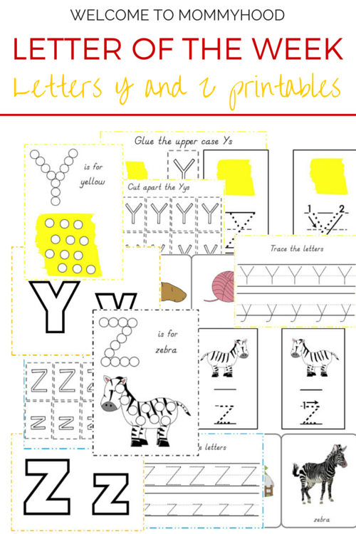 Tot Labs presents Letter of the Week: FREE Letters Y & Z printables by Welcome to Mommyhood, #preschoolactivities, #montessoriactivities, #montessori, #handsonlearning, #letteroftheweek, #lotw, #freeprintables