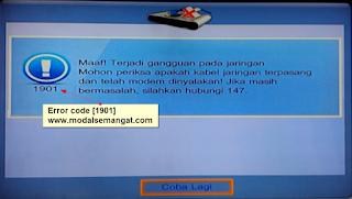 """Kode Error UseeTV IndiHome """"1901"""""""