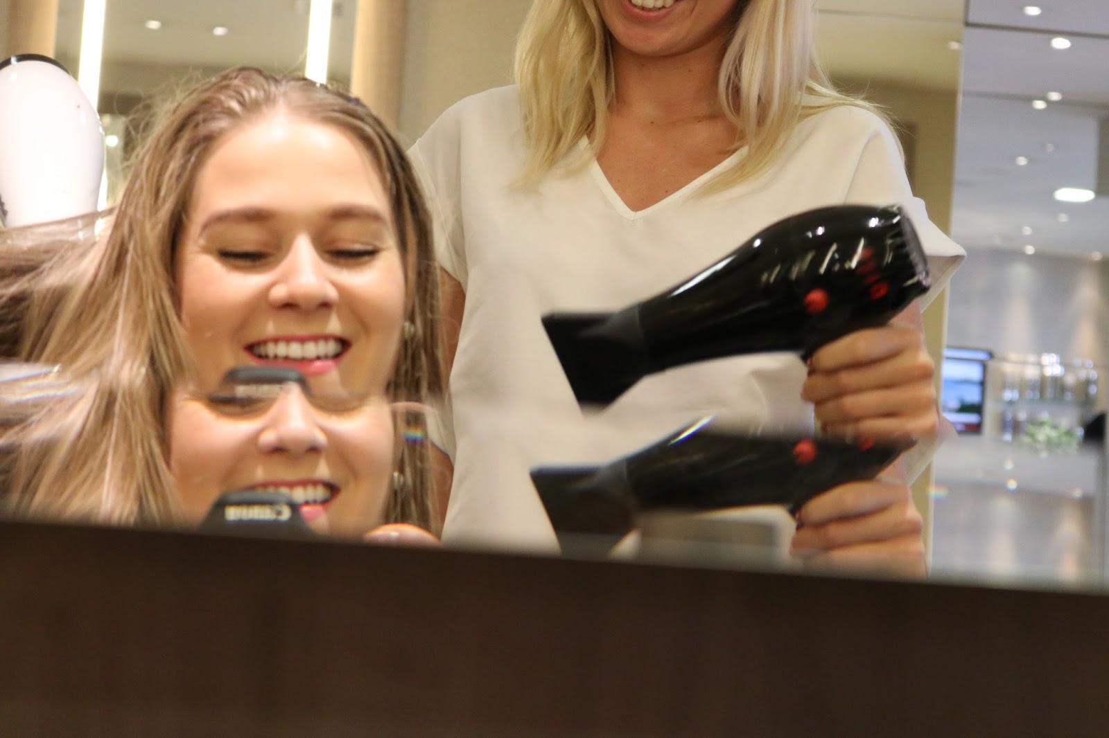 Blonde Girl, Katie Heath with Olaplex Haircare treatment, Hair by Dimitra, Michael John Salon, London