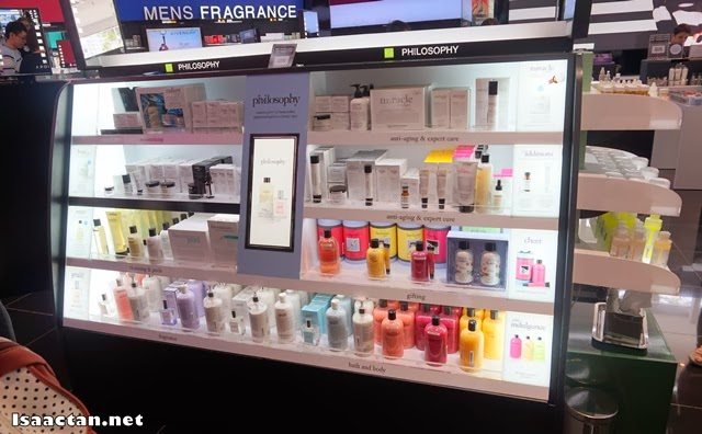 Philosophy counter inside Sephora where we got some complimentary sample pack