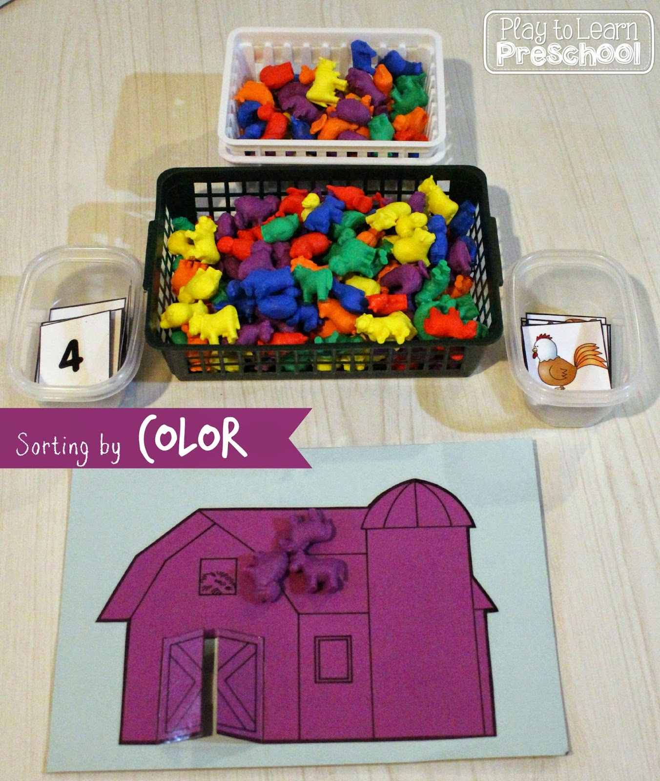 Play To Learn Preschool Sorting Center