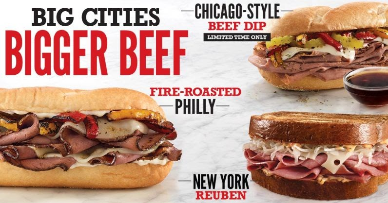 Arby 39 s debuts new chicago style beef dip as part of big for Wendy s fish sandwich 2017