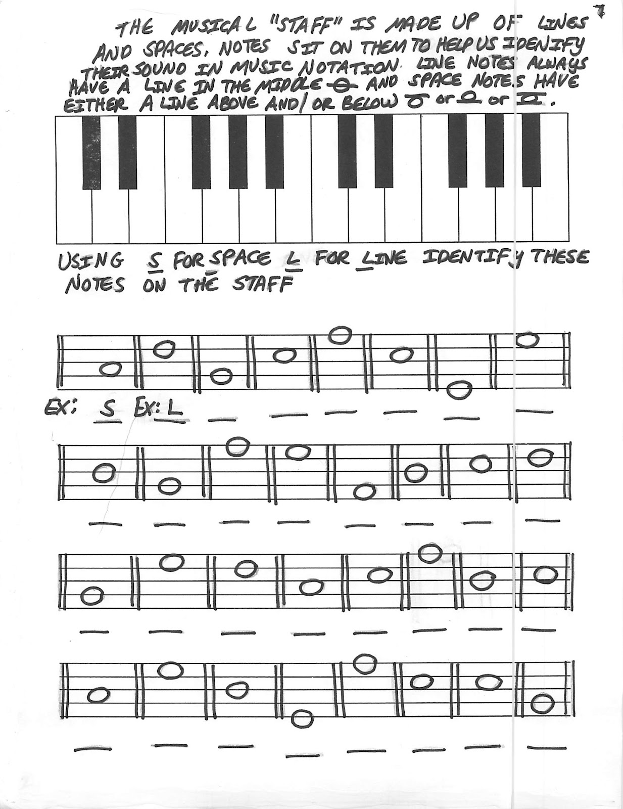 Miss Jacobson S Music Theory 4 Note Reading Lines And Spaces Highs And Lows