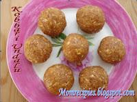 http://www.momrecipies.com/2008/09/kobbari-undalu-coconut-jaggery-laddu.html