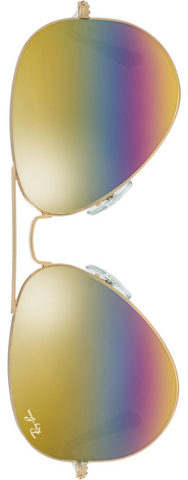 Ray-Ban Mirrored Aviator Metal Sunglasses