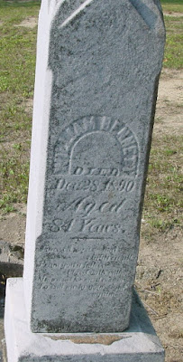 Climbing My Family Tree: Gravestone William Bennett, Deanville Cemetery MI
