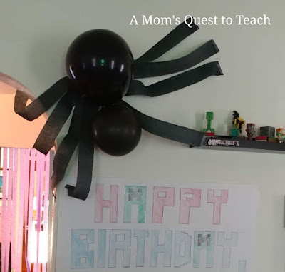 Spider and Happy Birthday Poster