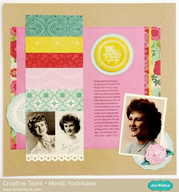 Echo Park Jack & Jill Girl Heritage Scrapbook Layout with We R Memory Keepers Fuse Tool Flip book by Mendi Yoshikawa