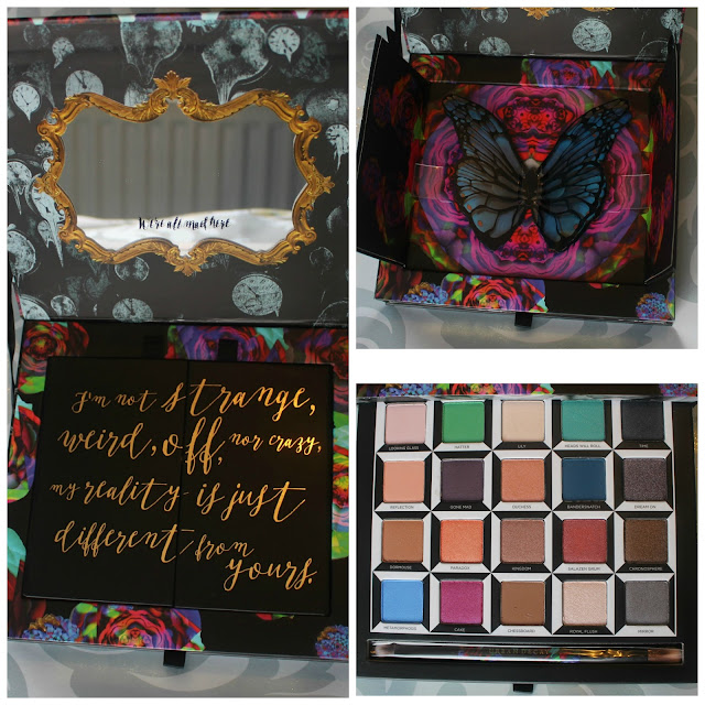 Photo collage of the Urban Decay Alice Through the Looking Glass Palette