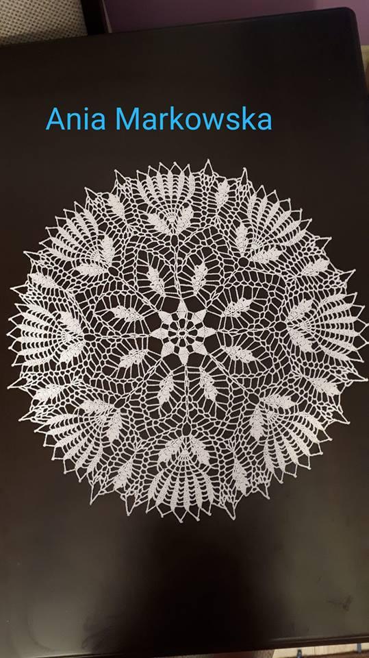 Filigranowe wzory - szydełkowa serwetka + schemat