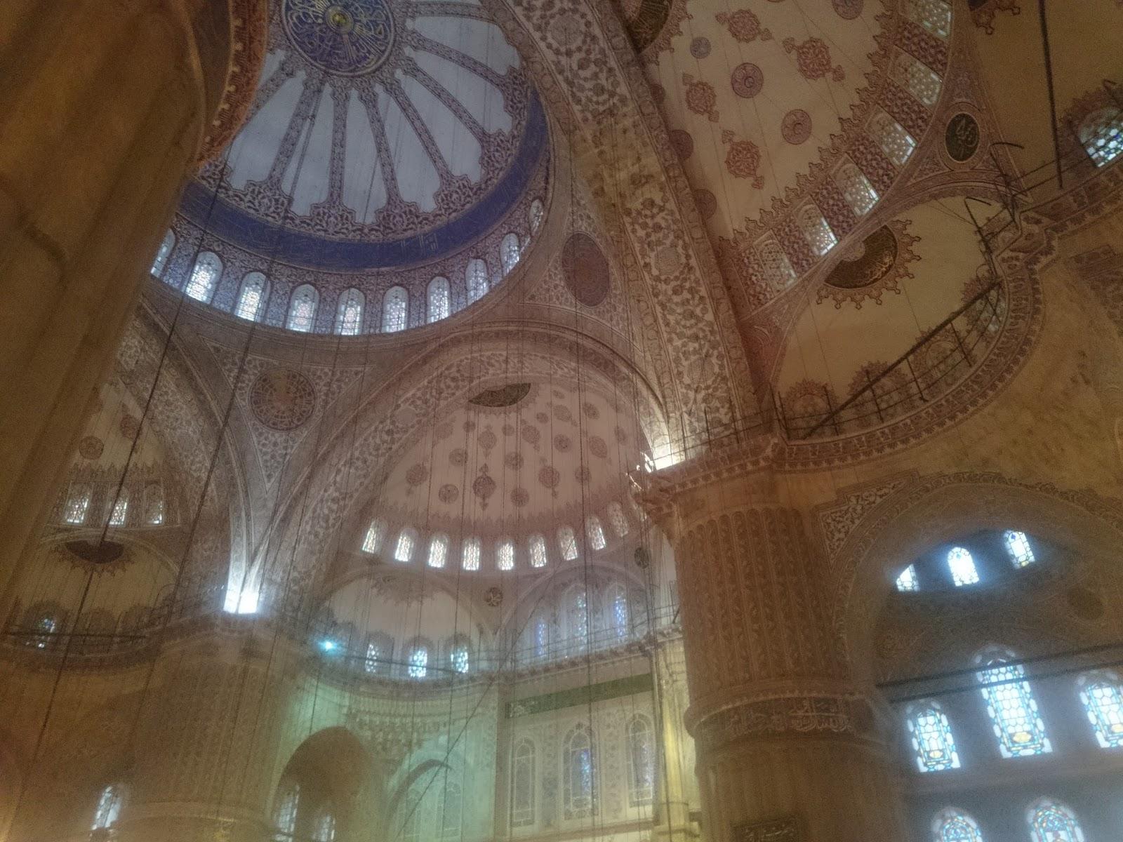 sultanahmet camisinin iç fotoğrafları