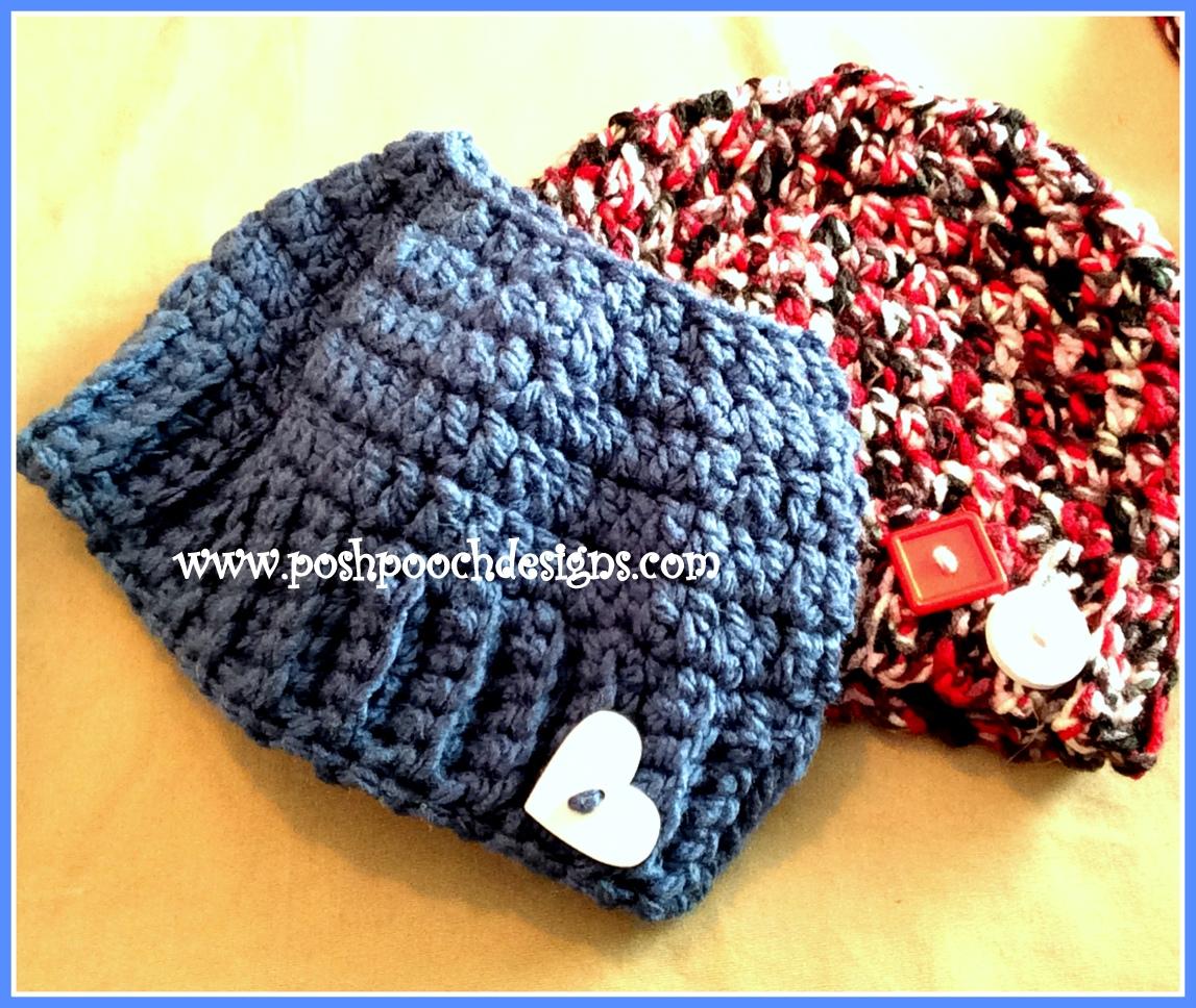 072ef732b004d Posh Pooch Designs Dog Clothes  My Chunky Messy Bun and Ponytail Hat  Crochet Pattern