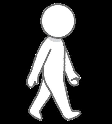 歩く人のイラスト(棒人間)
