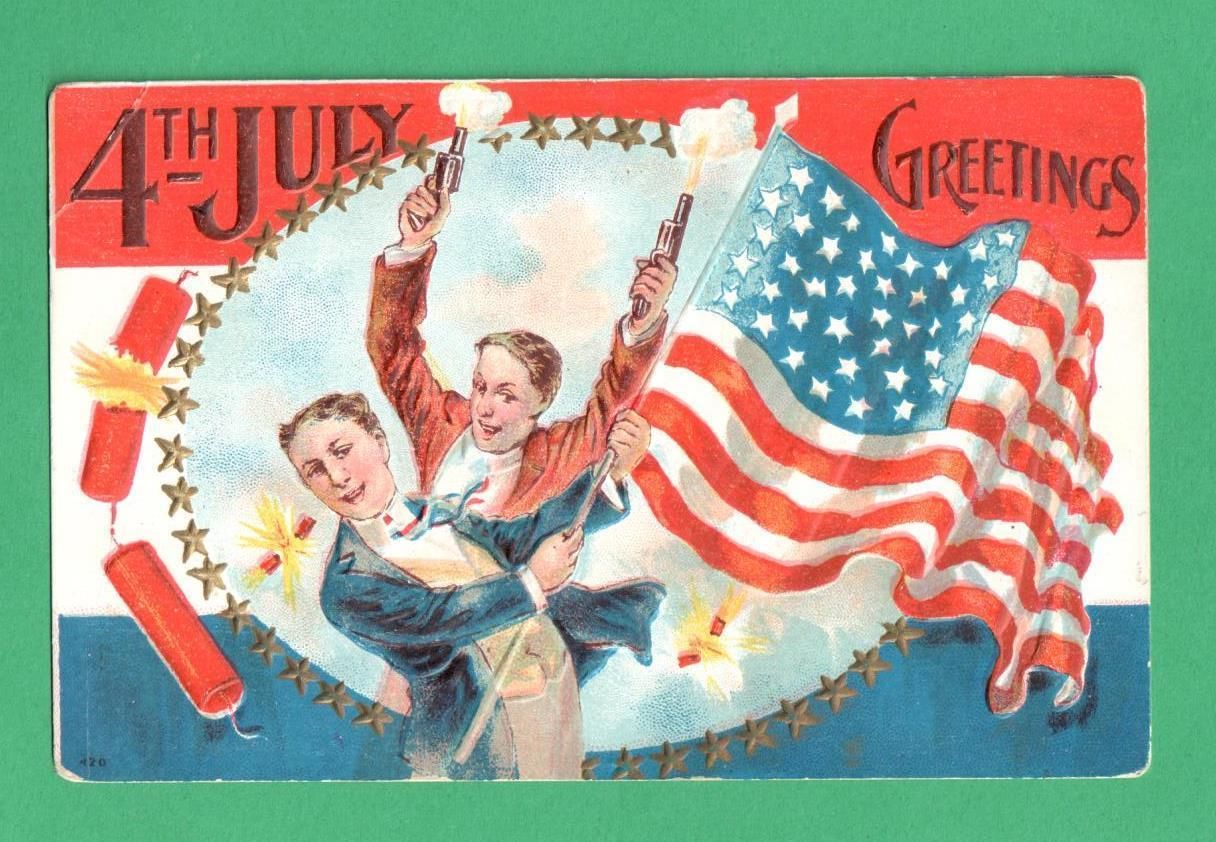 Gold country girls celebrating july with vintage 4th of july postcards the demure little girl below seems very sweet and into the 4th without fireworks wait what is that down on the left even she has some excitement going kristyandbryce Gallery
