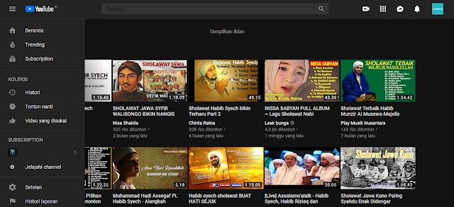 Cara Mengubah Tampilan Warna Youtube Terlihat Keren