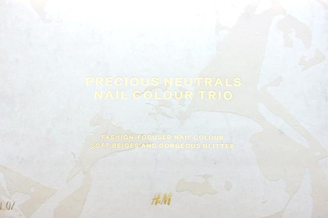 H&M precious neutrals nail colour trio soft beiges and gorgeous glitter