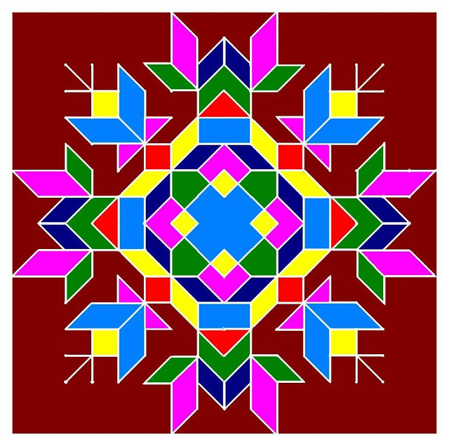 rangoli designs with dots