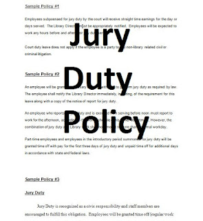 Jury Duty Policy contracts in word doc - 3 examples with standard policy.