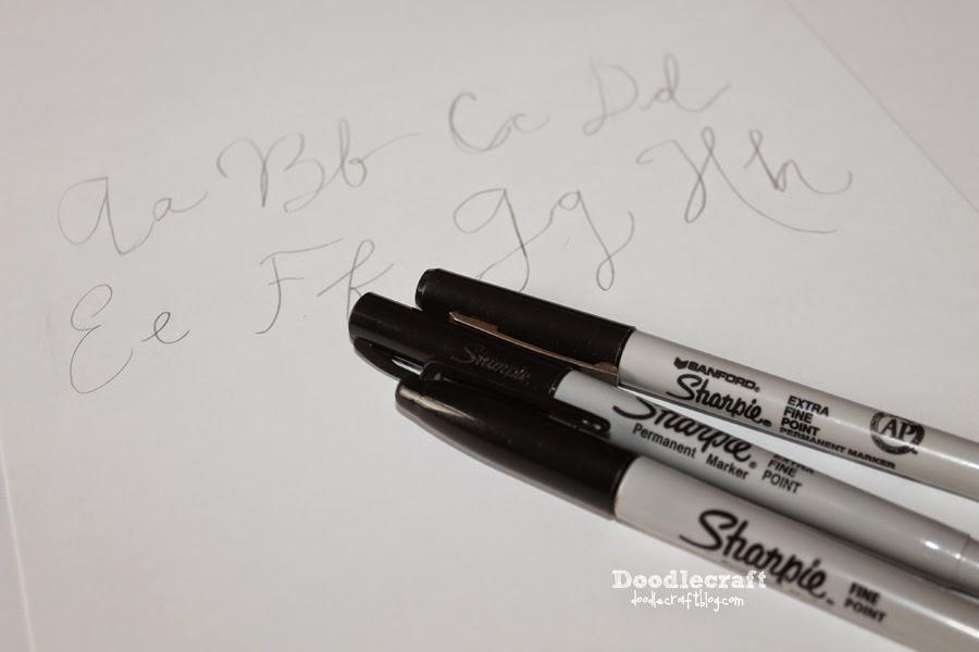 Calligraphy letters free premium templates