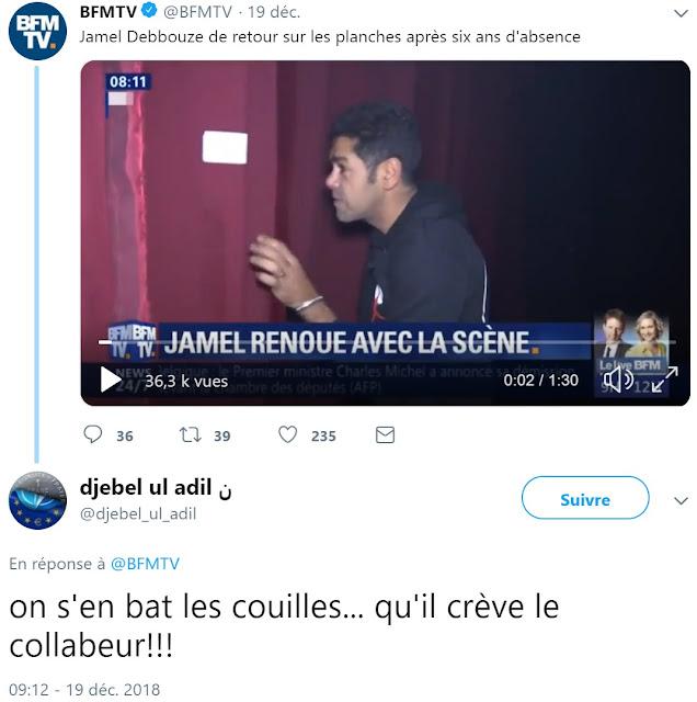 """Jamel Debbouze violemment insulté de """"collabeur"""""""
