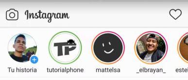 círculo verde en las historias de Instagram