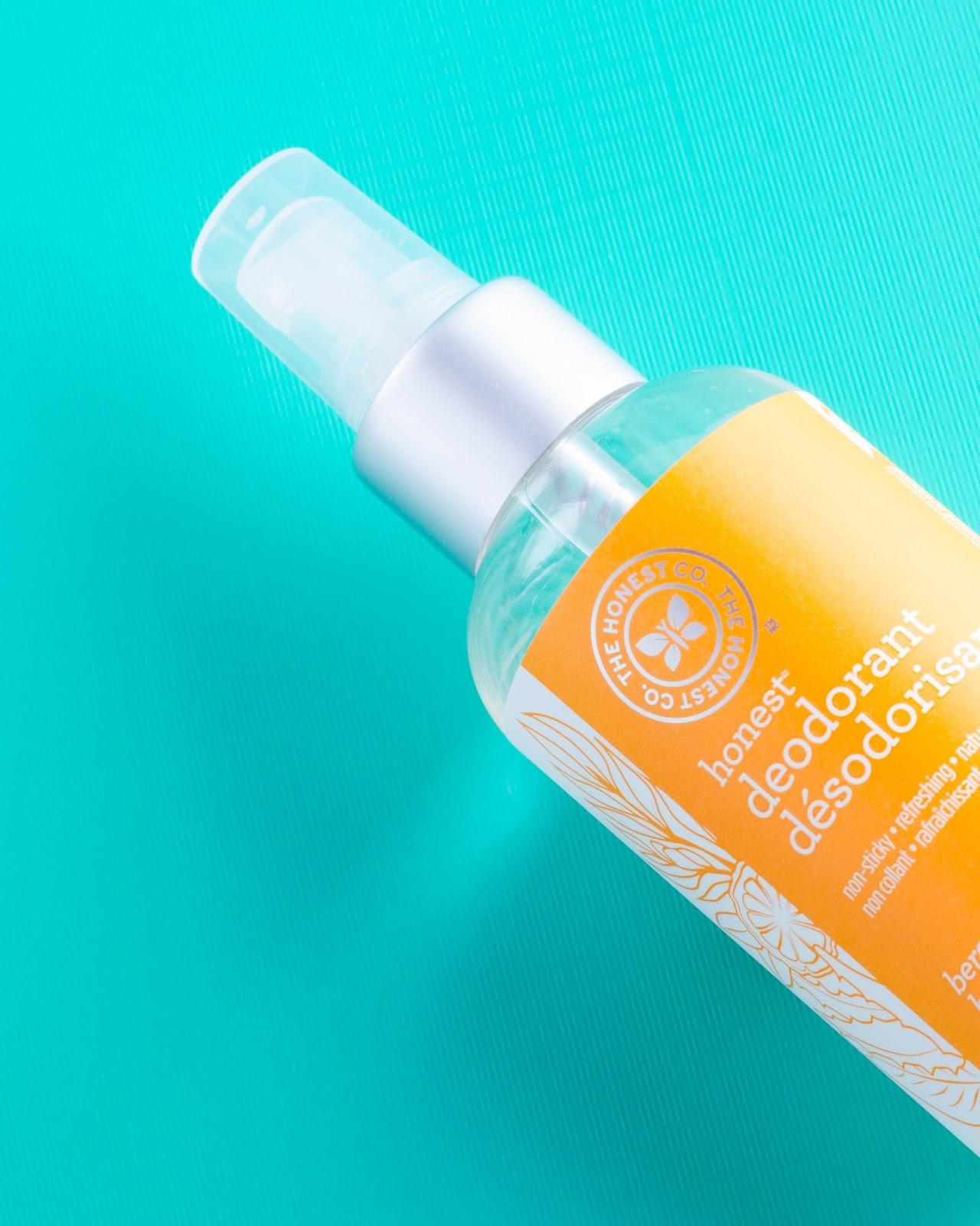 A close up of The Honest Company Honest Deodorant in Bergamot Sage Natural Deodorant