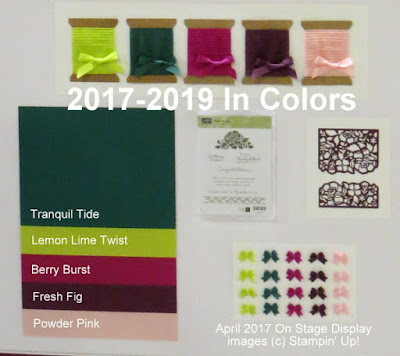 NEW! 2017-2019 Stampin' Up! In Colors -- Tranquil Tide, Lemon Lime Twist, Berry Burst, Fresh Fig, Powder Pink ~ www.juliedavison.com