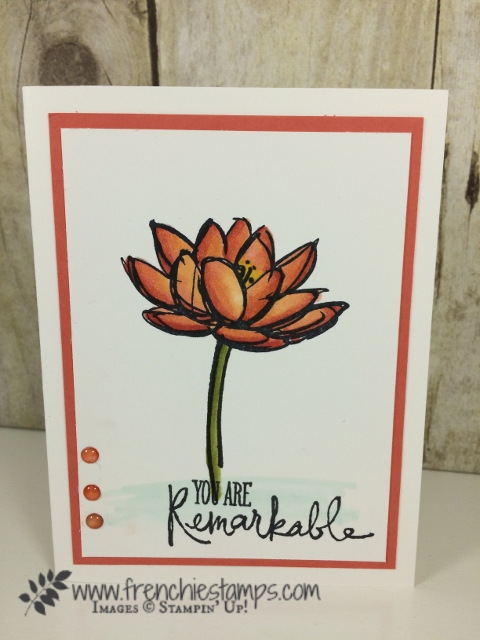 Remarkable You, Stampin' Blends, Alcohol Markers, Stampin'Up!