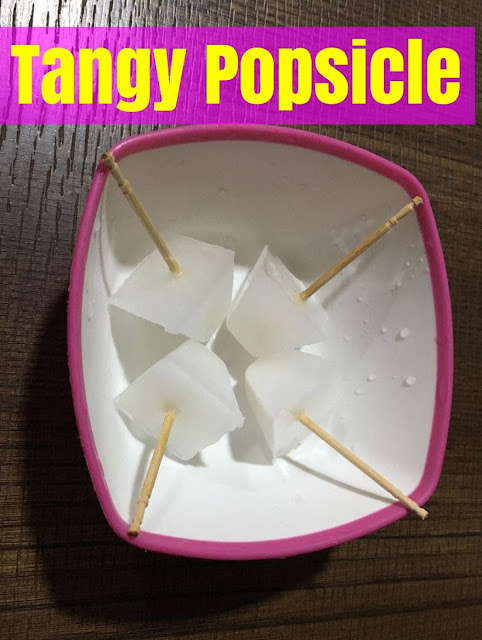Tangy Popsicles from Saanvi's Kitchen