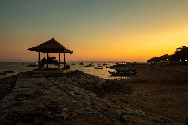 Tramonto alla spiaggia di Sanur-Sunset at Sanui beach-Bali